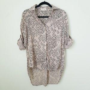 Anthropologie Cloth & Stone  Button Down Top sz S.